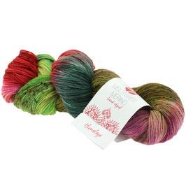 Meilenweit 100 Merino Hand-Dyed Farbe 307, Himalaya, Sockengarn aus Merinowolle, waschmaschinenfest, handgefärbt