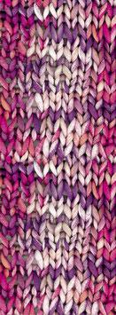 About Berlin Bulky Print Farbe 158, Weiß/Lachs/Pink/Violett Schlauch-Bändchengarn