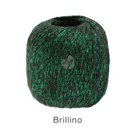 Brillino Farbe 14, Mokka/Grün, Beilaufgarn mit farbigem Lurexfaden
