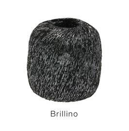 Brillino Farbe 13, Schwarz/Silber, Beilaufgarn mit farbigem Lurexfaden