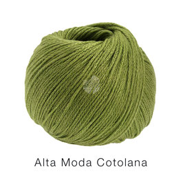 Alta Moda Cotolana Farbe 26, Oliv, Edles Kettengarn aus Merino und Pima Baumwolle