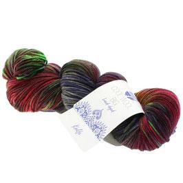 Cool Wool Big Hand-Dyed Farbe 204, Kulfi - Oliv/Schlamm/Brombeer, Extrafeine Merinowolle waschmaschinenfest und filzfrei, handgefärbt