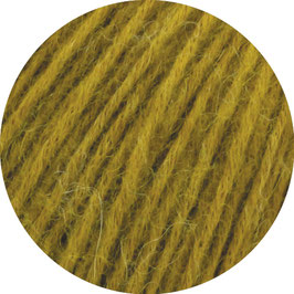 Ecopuno Farbe 53 Currygelb, Edles Garn aus Baumwolle mit Merino und Alpaka