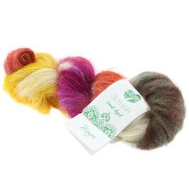 Silkhair Hand-Dyed  Farbe  608, Mogra, Feines Lace-Garn aus Superkid Mohair mit Seide, handgefärbt