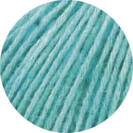 Ecopuno Farbe  28 Türkis, Edles Garn aus Baumwolle mit Merino und Alpaka