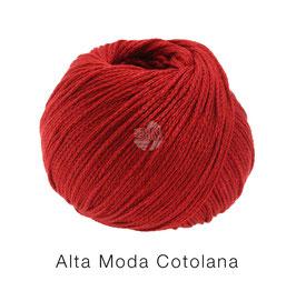 Alta Moda Cotolana Farbe 5, Weinrot, Edles Kettengarn aus Merino und Pima Baumwolle