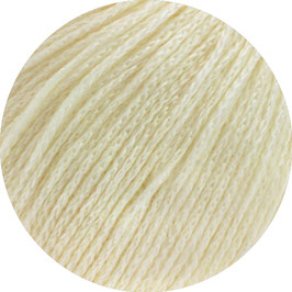 Alta Moda Cotolana Farbe  20, Ecru, Edles Kettengarn aus Merino und Pima Baumwolle