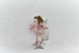 Engelfigur Farbe Rosa 5 x 4x H 10 cm