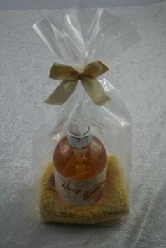 Geschenkset 2-teilig, flüssige Seife und Waschhandtuch