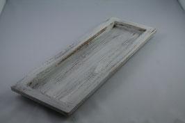 Holz Tablett weiß gewischt