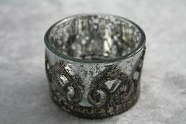 Teelichtglas antik / silber