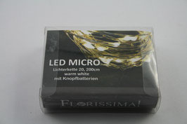 LED Lichterkette Micro 200 cm warmweiss
