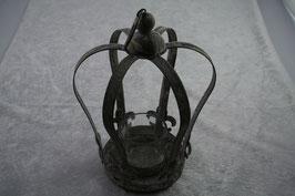 """Metall - Teelichthalter """" Krone """" mit Teelichtglas"""
