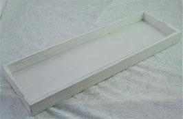 Tablett rechteckig Farbe weiß 40 x 13 x H 3 cm