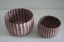 Windlichtschale Metall rosa