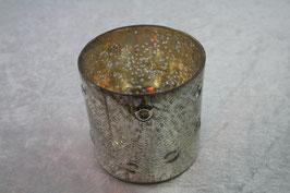 Windlichtglas Farbe Silber innen verspiegelt