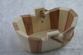 Badewanne aus Holz oval