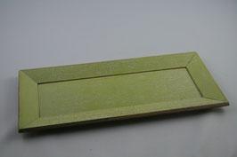 Holz Tablett hellgrün