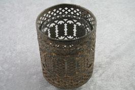 Kerzenhalter mit Glas Metall