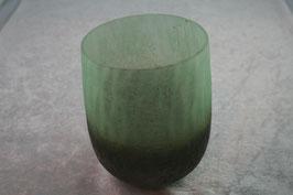 Windlichtglas grün/braun
