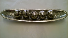 Schale Metall mit Dekokugeln