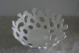 Keramik-Schale weiß für Obst oder Deko