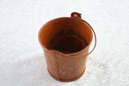 """Metall Teelichthalter """"Eimerchen"""" Farbe rost"""