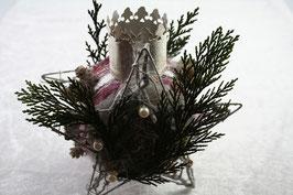 Reben-Stern mit Teelichtstecker
