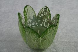 Windlicht Glas in Blütenform