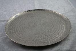 Tablett Metall Farbe silber