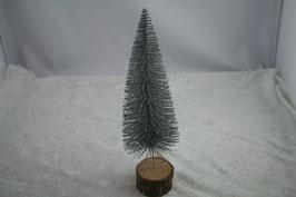 Weihnachtsbaum künstlich  D 8 x H 26 cm Farbe Grün / Silber
