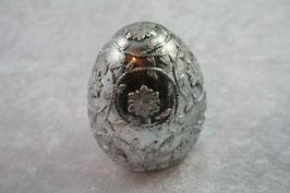 Polyresin Ei mit Blumenmuster