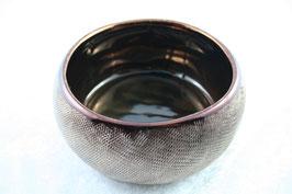 Deko Schale Keramik Farbe braun/kupfer