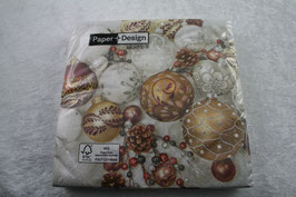 Lunch Serviette 33x33 cm Shiny baubles