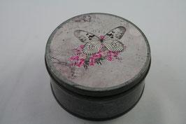 Metalldose mit Schmetterling