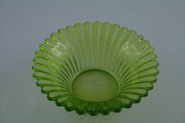 Glas Windlichtschale grün