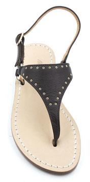 """sandalo artigianale infradito """"NEFERTITI"""" colore nero."""