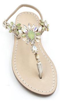 "Sandali artigianali ""Diana"" verdi"