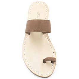 """Sandali artigianali infradito"""" amalfi"""" colore cuoio."""