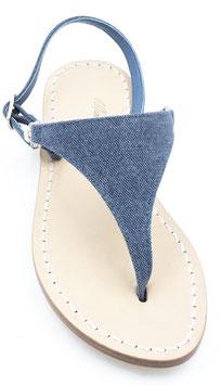 "Sandali artigianali triangolo ""lara"" core blue-jeans -"