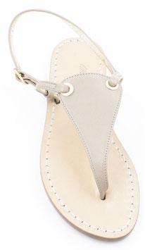 """Sandali  artigianali modello """"Venere """"beige."""