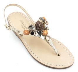 """Sandali artigianali """"Cristal""""modello Asia Arancione."""