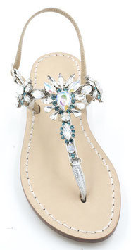 """Sandali artigianali Modello """"Diana"""" turchese."""
