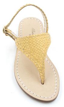 "sandali artigianali ,triangolo modello ""aurora "" giallo"