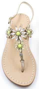 """Sandali artigianali modello """"Stefania""""  verde."""