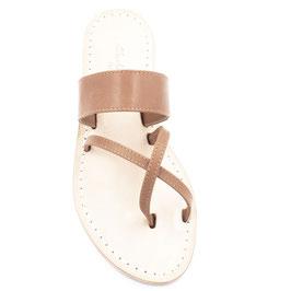 """Sandali artigianali modello """"Nitrodi"""" colore cuoio.sandalo stile Capri."""