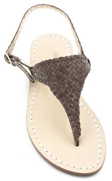 """sandali artigianali ,triangolo modello """"Aurora""""  colore cuoio."""