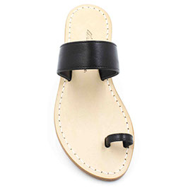 """Sandali artigianali infradito"""" amalfi"""" colore nero ."""