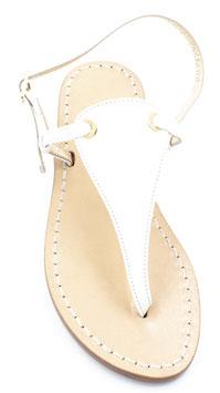 """Sandali  artigianali modello """"Venere """" bianco."""