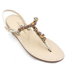 "Sandali artigianali modello ""gaia"" arancioni."
